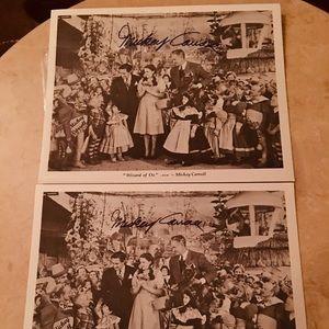 Wizard of Oz Mickey Carroll signed print
